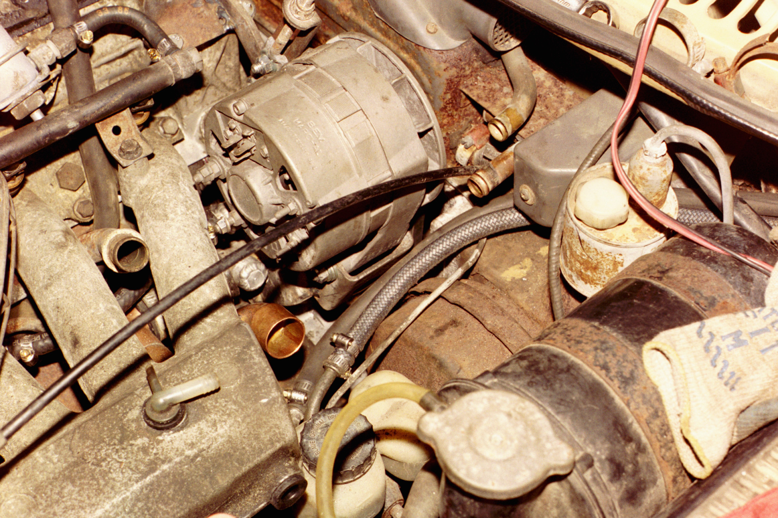 05 Oil Coolerheater Coolant Tank Plumbing Beckmannag Brown Engine The Junction Between Water Pump Inlet And Hose Is Soldered Up From Common Copper Fittings